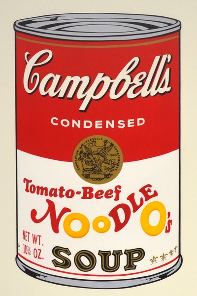 andy warhol campbells soup tomato beef noodle o s obrazy. Black Bedroom Furniture Sets. Home Design Ideas