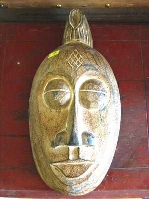 Totemová maska z dreva