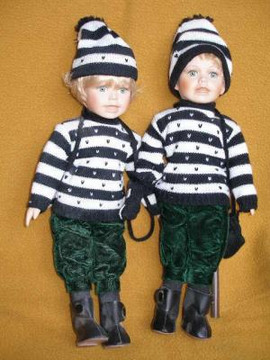 Bábiky - dvojica v zimnom oblečení