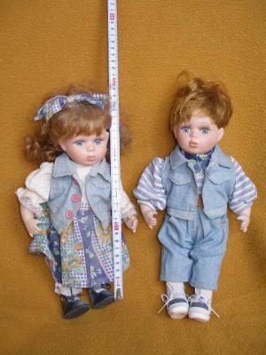 Bábiky - dvojica v jeansovom oblečení