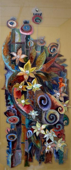Kvety na skle