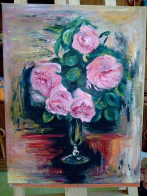 Kytica-reprodukcia diela Renoira