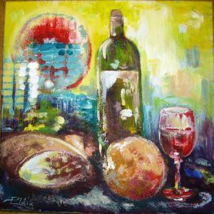 Zátišie s vínom