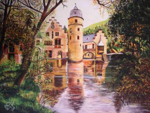 Mespelbrunn castle, Deutschland