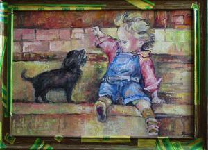 Dieťa so psom