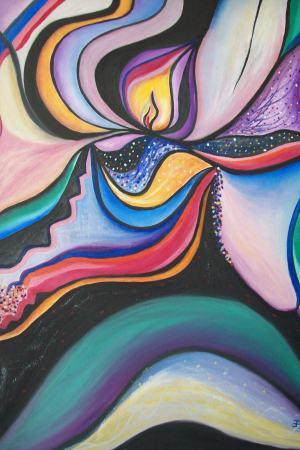 Abstraktný kvet - Plamienok