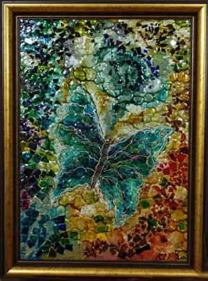 Motýľ - mozaika
