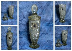 Krištáľový brúsený pohár – váza