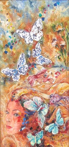 Žena s motýľmi