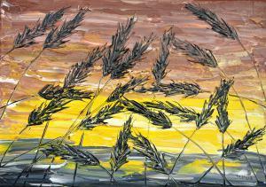 Tráva v hnedom