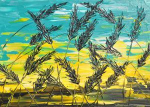 Tráva v tyrkysovom