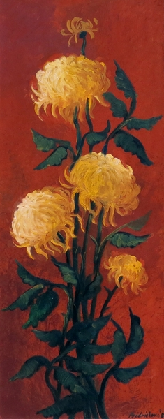 Žlté chryzantémy