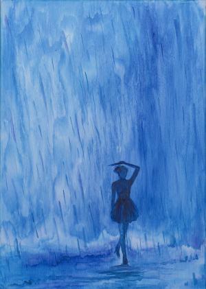 Kroky v daždi, Tanečnica