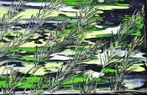 Trávy v zelenom