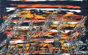 Trávy v červenom