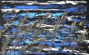 Trávy v modrom