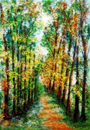 Impresia vo farbách lesa.