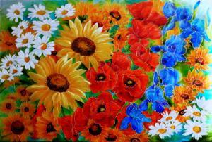 Koberec z kvetov