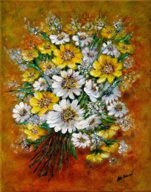 Kytica žltobielych kvetov