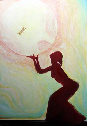 Modlitba vážky, z cyklu Tiene raja