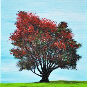 Červený strom.