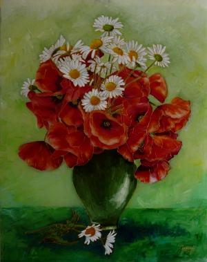 Poľné kvety vo váze