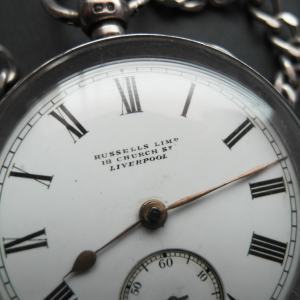 Vreckové hodinky RUSSELLS LIMITED LIVERPOOL