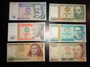 6 Ks bankovky Peru seria A