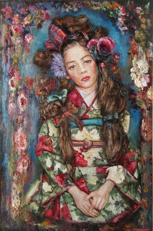 Dievča v kimone