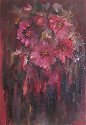 červené kvety