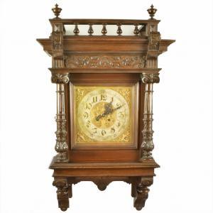 Starožitné nástenné hodiny 19.stor., Altdeutsch, Grunderzeit