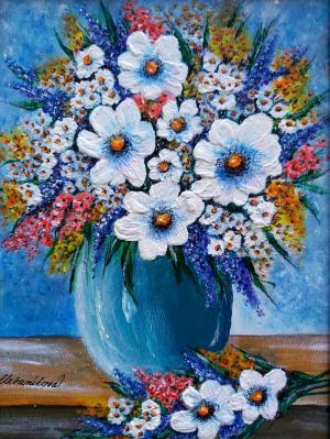 Zátišie s kvetmi 1