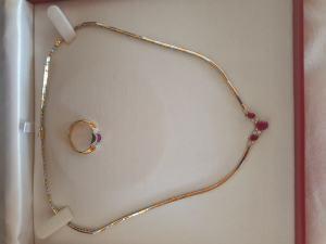Set náhrdelník a prsteň