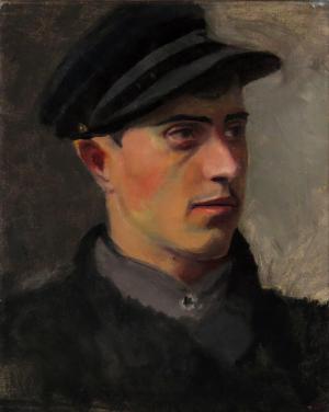 Muž v čiapke