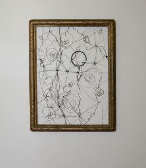 Drôtený obraz - objekt III