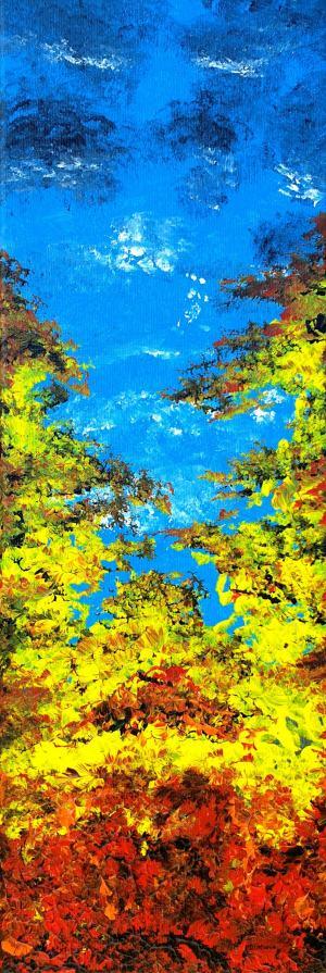 Modrá jesenná obloha