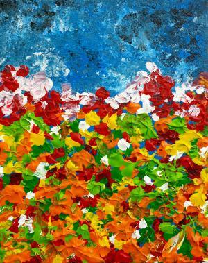 Abstraktné kvety 1