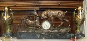 Komodové hodiny - signované Thomas Cartier