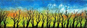 Zimné čierne stromy