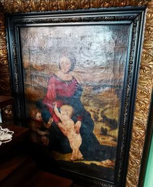 Márie Magdalény s malým Ježiškom a svätého Jána Krstiteľa