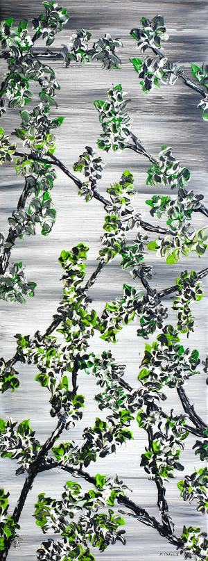 Kvitnúce jarné čerešne
