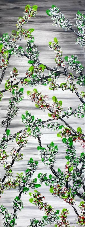 Kvitnúce jarné čerešne 2