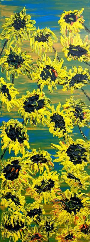 Kvitnúce slnečnice
