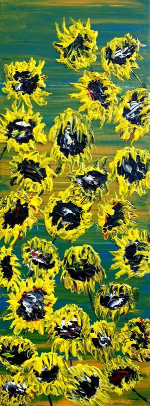 Kvitnúce slnečnice 1