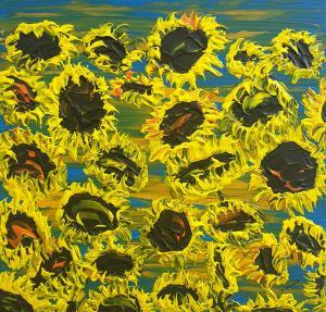 Kvitnúce slnečnice 5