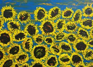 Kvitnúce slnečnice 6
