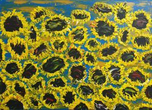 Kvitnúce slnečnice 7
