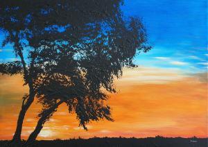 Červený západ slnka 1