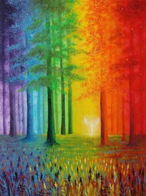 Anjel v dúhovom lese