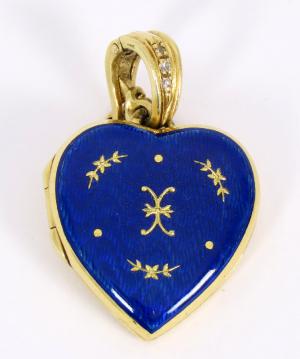 Prívesok v tvare srdca Faberge